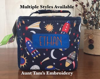 Personalized Boys Insulated Lunch Box,  Lunch Box, Boys Lunch Bag, Fit & Fresh, Kids Lunch Bag