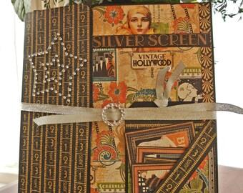 Vintage, Hollywood, Scrapbook Album, Folio, Photo Album, Graphic 45, Art Deco style