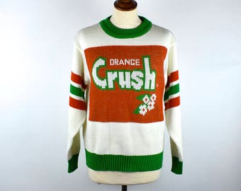 1970's Orange Crush Knit Sweater