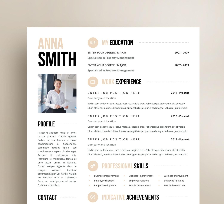 Resume Template CV Template Resume CV design CV