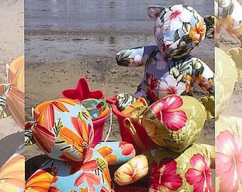 Beyond the Reef Aloha Bear Stuffed Animal Sewing Pattern