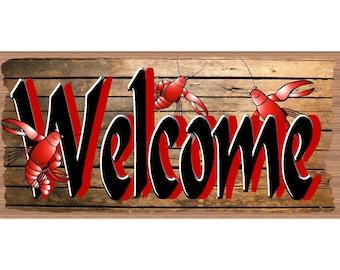 Crawfish Welcome Signs - Crawfish Boil- GS 2664- Mardi Gras