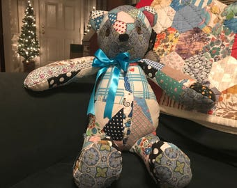 quilted memory bear