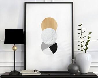 Scandinavian design, mid century modern, wall art print, fine art print, danish posters, affiche scandinave, geometric print mid century art