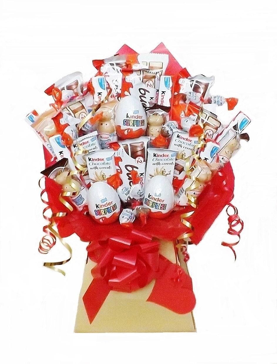 Kinder chocolate bouquet sweet hamper christmas birthday zoom izmirmasajfo Images