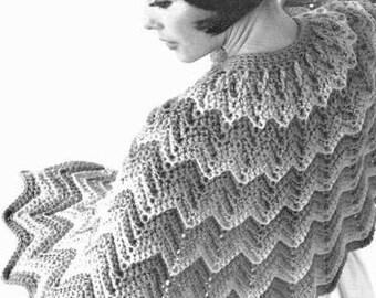 Ripple Cape Crochet Pattern 723165