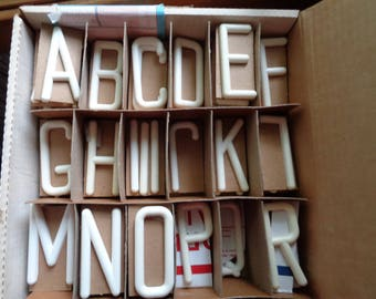 Alphabet Sign  Letters Plastic Craft Letters White 3 Inch Lot