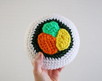 Crochet California Roll Sushi Plush