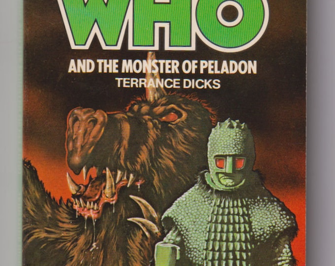 1980 Doctor Who, and the Monster of Peladon, First Printing Paperback book. Terrance Dicks. VF+. 1980. Target Books