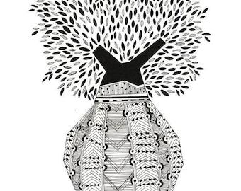 TOBOROCHI TREE, nature illustration