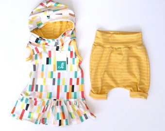 Baby Girl Outfit l Tunic Dress l Ruffle l Tank Top Dress l Hooded Dress l New Baby Outfit l Jersey Knit 6-9 Month l Baby Girl Gift Set