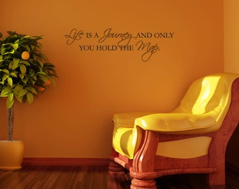 LIFE is a JOURNEY Wall Art/Decal Lettering Words Decor Vinyl
