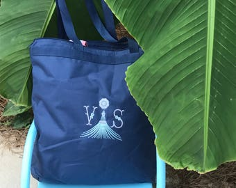 Personalized Zippered Tote Bag Bridesmaids Gifts Monogrammed Tote, Bridesmaids Tote, Personalized Tote