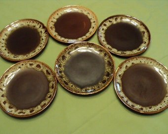 Six Vintage Carefree Ironstone By Cannonsburg, USA