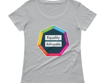 Equality Advocate: Intersectional Social Justice Women's Scoopneck T-Shirt
