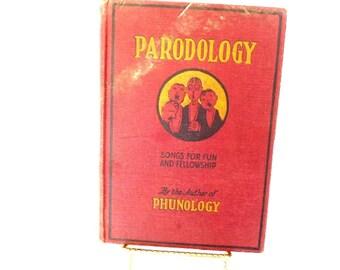 Antique Vintage Book Paradology Songs for Fun and Fellowship E O Harbin Music Book Piano Music