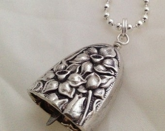 Knife Bell Pendant Narcissus Silverplate Jewelry Vintage Silverplate Knife Spoon Ring