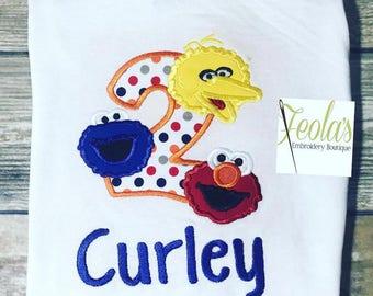 Sesame Street Birthday Shirt