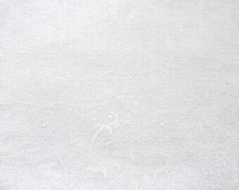 Coupon 114 X 62 cm cotton net white drawing tone on tone