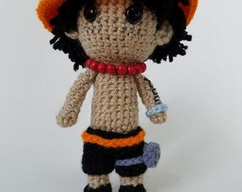 "Amigurumi Ace-inspired 8"" Crochet Doll"