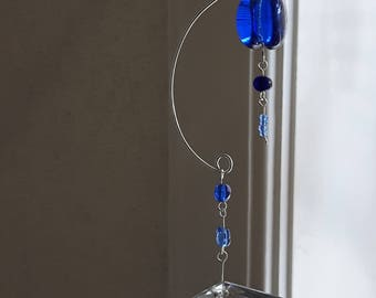 Glass Suncatcher Blue
