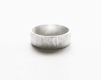 Birch Ring - sterling silver wedding band