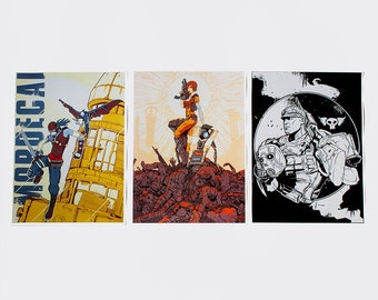 Borderlands Screen Print Styled Character Posters - Set of 3