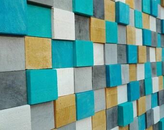 Décoration murale design en bois