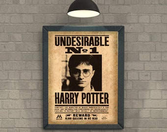 Undesirable number 1 Harry Potter wanted Movie Home Decor Poster