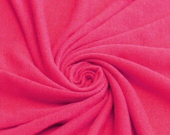 Hot Pink Hacci Classic Sweater knit by the Yard- 1 Yard Style 13243