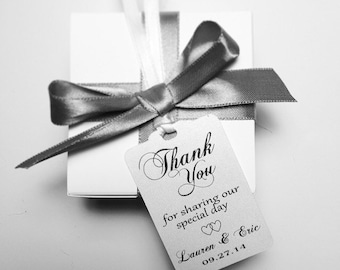 Wedding Thank You Tags -Personalized Wedding Favor Tags- thank you for sharing our special day hang tags