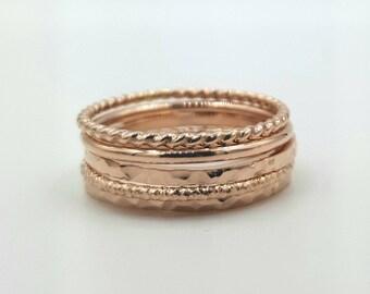 Stacking Ring Set- Rose Gold Filled