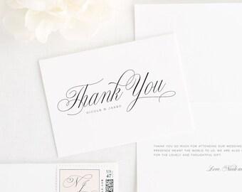 Garden Script Thank You Cards
