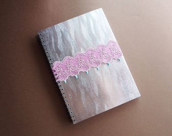 Handmade wire-o notebook - dainty chic