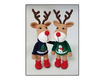 amigurumi Reindeer pattern,Christmas