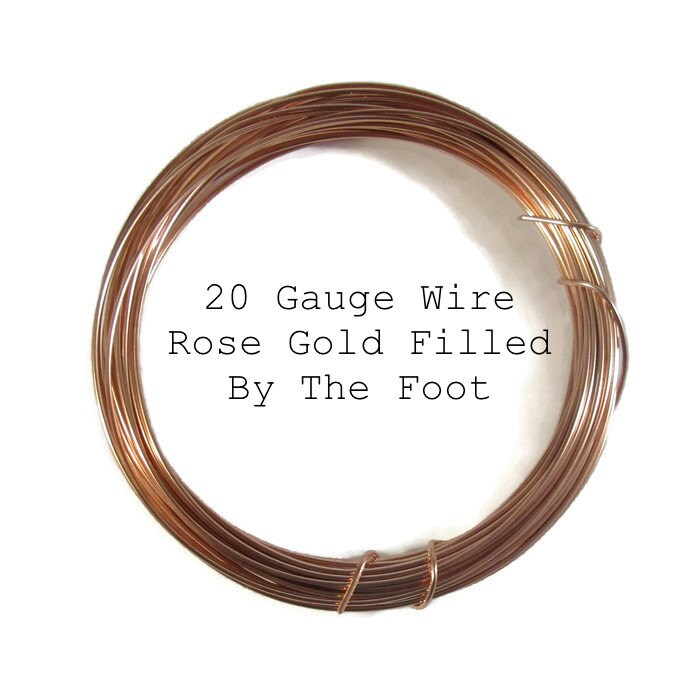 20 Gauge Wire, Rose Gold Filled Wire, By The Foot, Round, Half Hard ...