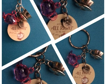 personalised disney beauty and the beast keyring mrs potts chip quote saying letter initial