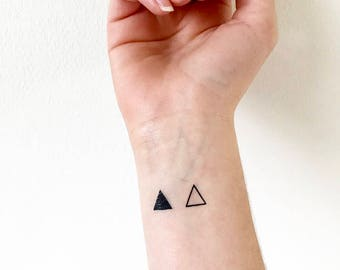 Triangle Temporary Tattoo (set of 4)