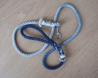 Navy Blue rope leash 100% cotton rope leash, ombre leash,cotton rope lead, dog lead, dog leash