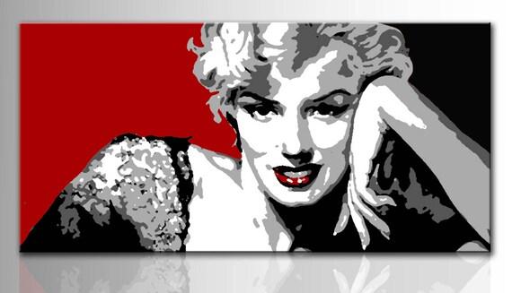 Quadro moderno dipinto a mano Marilyn Monroe pop art Quadri
