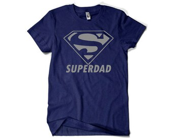 Funny Father's Day Gift T-shirt T Shirt Tshirt - Gift for Him Gift Ideas Gift from Daughter Son Superhero Superdad Cool Awesome  fa-0345