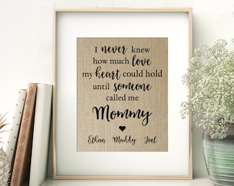 MOMMY Print | Mother's Day Gift for Mother Mom Mommy | Personalized with Children's Names | Gift for Wife from Children