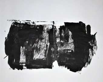 Abstract Minimal No.00368 Acrylic on Paper 36x29 Modern Industrial Hand Cut