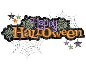 Happy Halloween Embroidery Design - Instant Download - Six designs