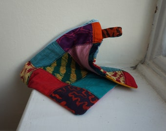 Reclaimed Patchwork Pouch Bag Clutch