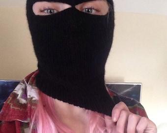 Hand Knit Balaclava/Ski Mask/Superhero Mask