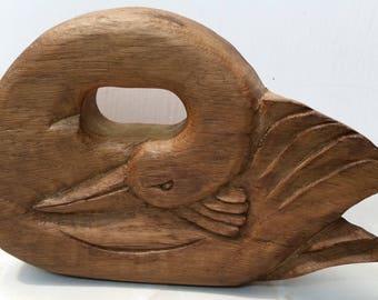 Wunderschön schlafen handgefertigten Holz paar von Swans - der Schwan In keltische Mythologie