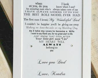 Father of the Bride gift, thank you to Dad from Daughter, Daughter Father gift, gift from Bride to Dad, digital option