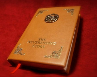 The Neverending Story Book Replica - Leatherbound Prop Replica (Inspired by The Neverending Story)