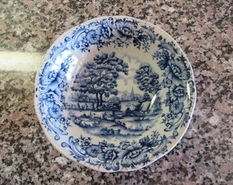 Two vintage Myott Meakin (England)1982 blue white pasture scene soup for one price- fine condition beautiful & Myott meakin   Etsy